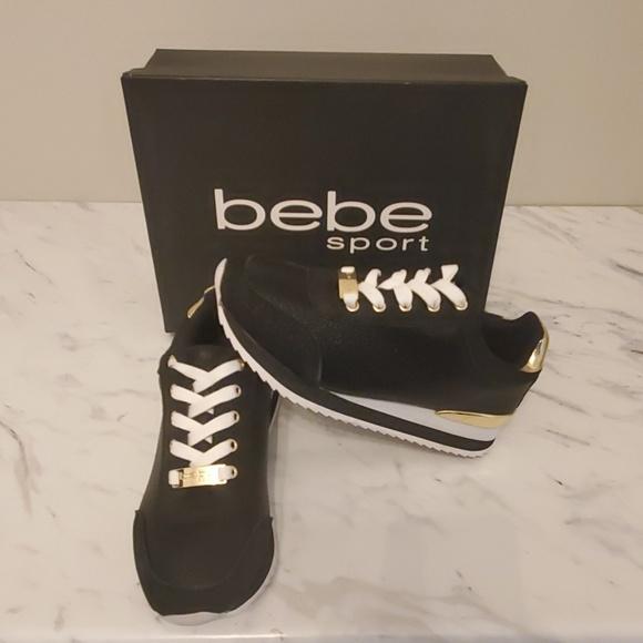 bebe Shoes | Platform Black Sneaker